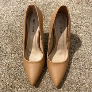 Tan Pointy Pumps
